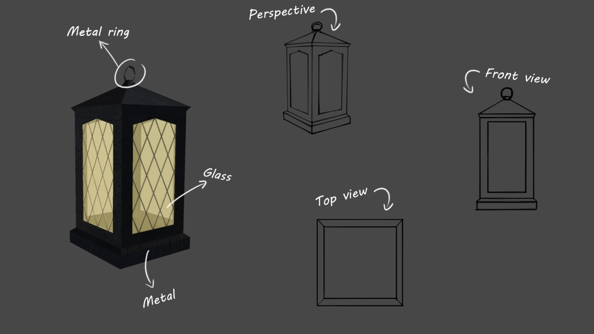 Figure 2.3: Lantern prop preview